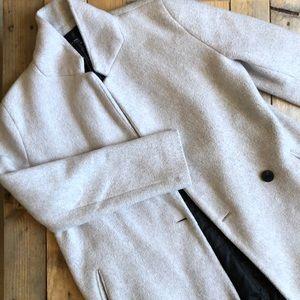 ZARA L Light Gray Coat